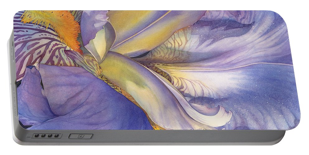 Iris Portable Battery Charger featuring the painting Diva Divine by Sandy Haight