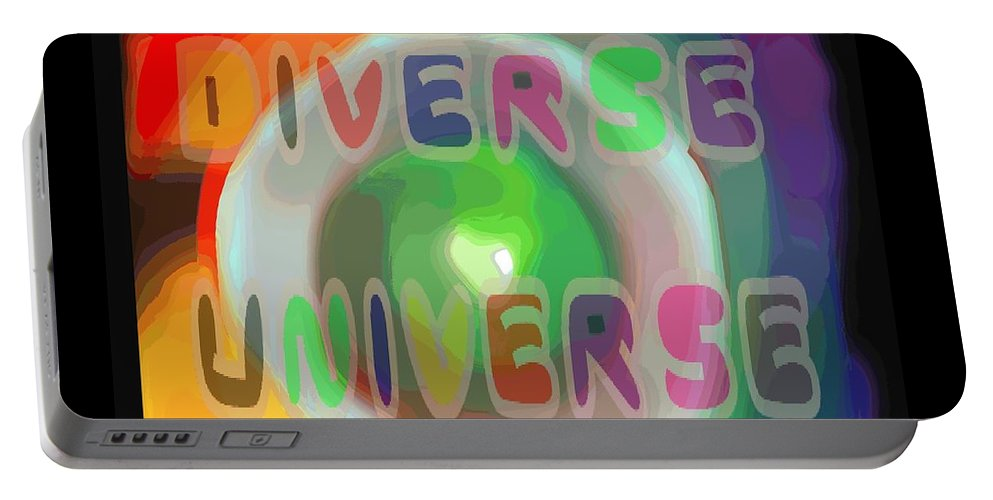 Diverse Portable Battery Charger featuring the painting Diverse Universe by Pharris Art