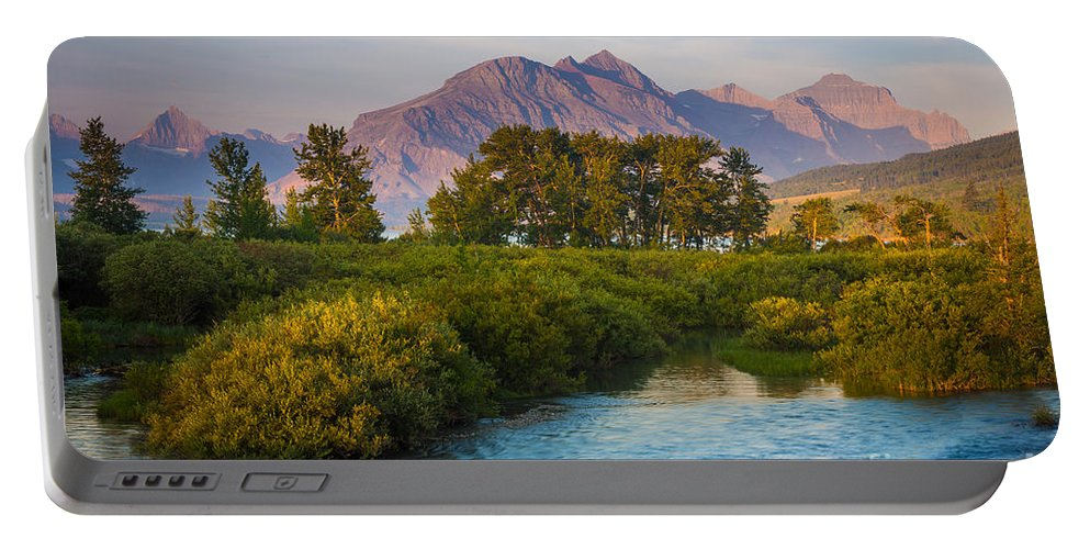 America Portable Battery Charger featuring the photograph Divide Creek Morning by Inge Johnsson