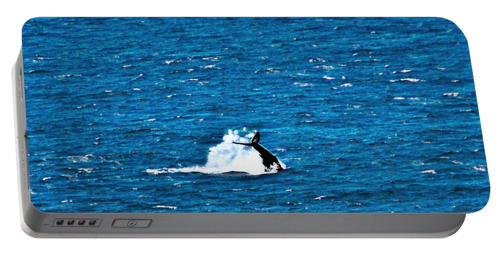 Whale Photography Portable Battery Charger featuring the photograph Diving I by Patricia Griffin Brett