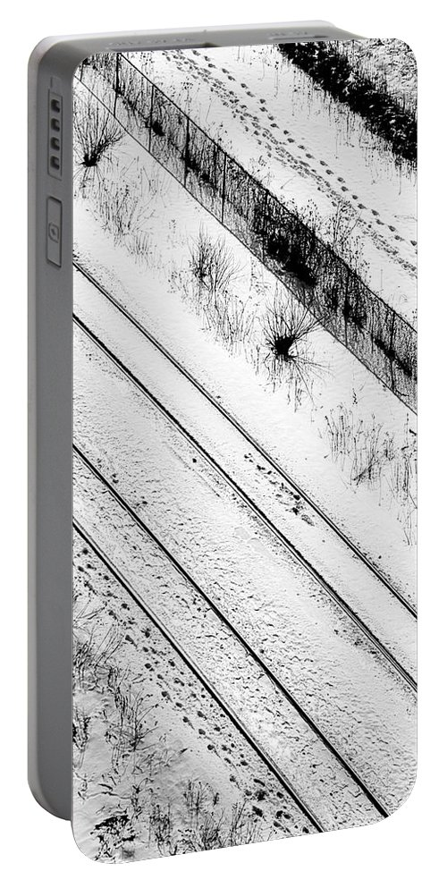 Divisions Portable Battery Charger featuring the photograph Divisions by Valentino Visentini
