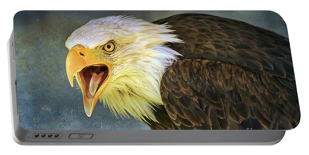 Bird Portable Battery Charger featuring the photograph Do It Or Else by Teresa Zieba