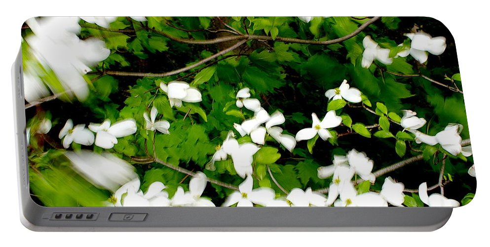 Wind Portable Battery Charger featuring the photograph Dogwood In The Wind by Randy Pollard