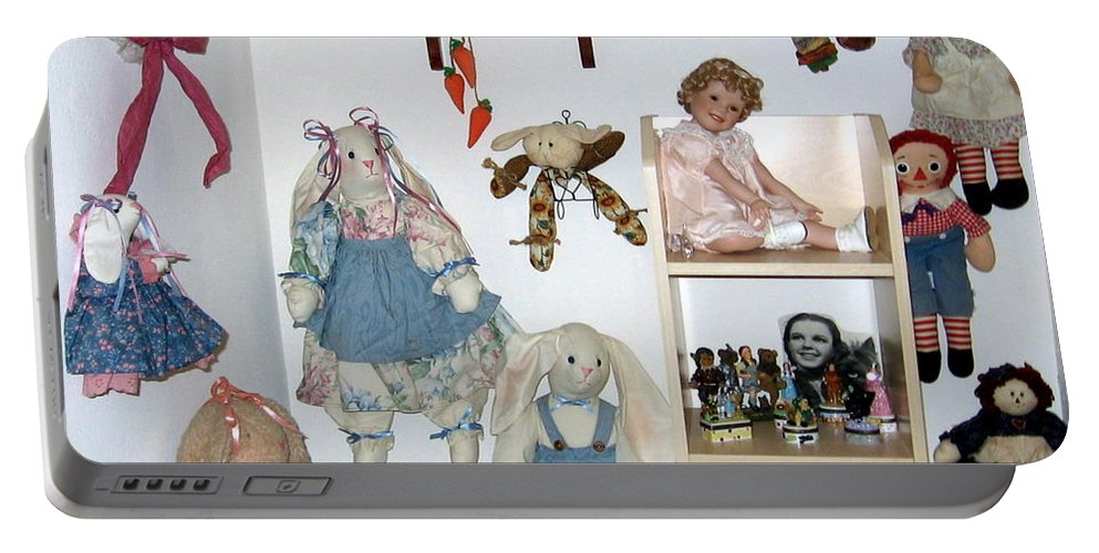 Dolls Portable Battery Charger featuring the photograph Dolls And Such by Amy Hosp