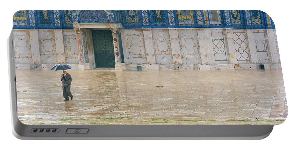 Jerusalem Portable Battery Charger featuring the photograph Dome Of The Rock by Shaun Higson