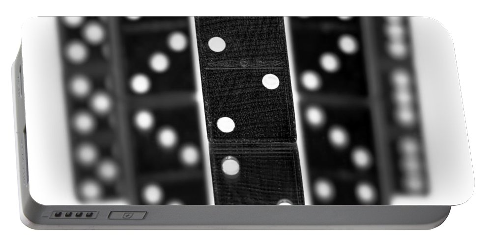 Domino Portable Battery Charger featuring the photograph Dominoes by Gordon Dean II