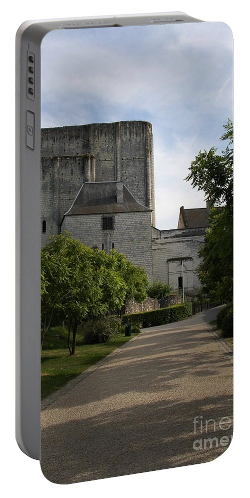 Donjon Portable Battery Charger featuring the photograph Donjon Loches - France by Christiane Schulze Art And Photography
