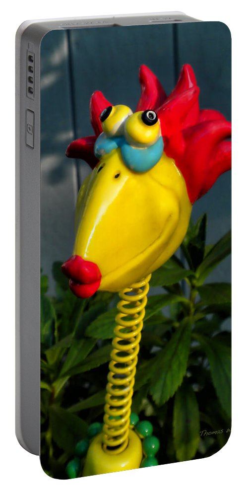 Donna Portable Battery Charger featuring the photograph Donna's Bird Says Kiss Me by Thomas Woolworth