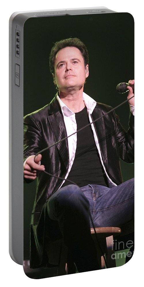 Actor Portable Battery Charger featuring the photograph Donny Osmond by Concert Photos