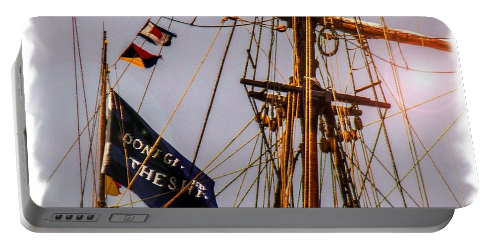 Portable Battery Charger featuring the digital art Don't Give Up The Ship by Kathryn Strick