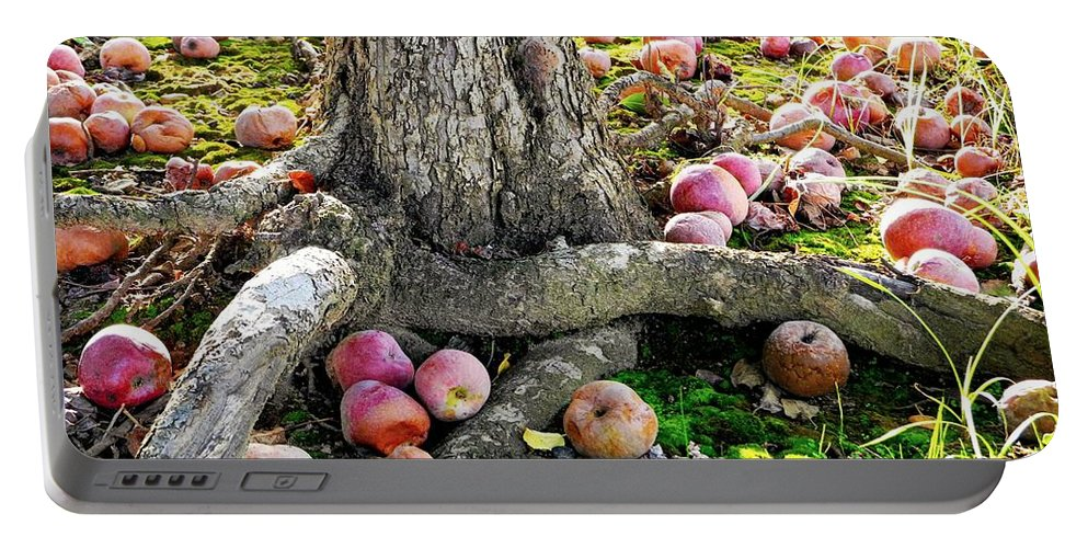 Apple Tree Portable Battery Charger featuring the photograph Don't Sit Under The Apple Tree With Anyone Else But Me by Beth Ferris Sale