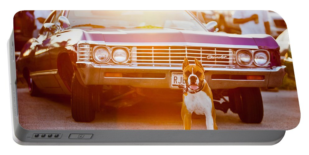 Automotive Portable Battery Charger featuring the photograph Don't Touch My Ride by Melinda Ledsome
