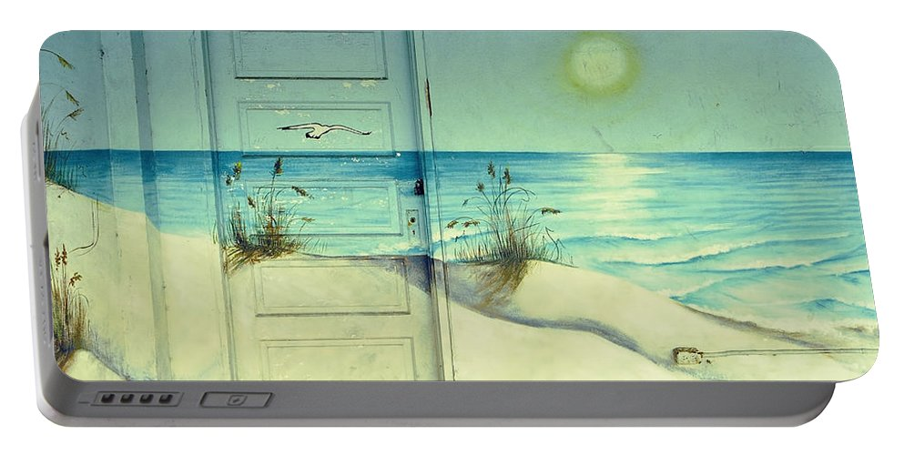 Architecture Portable Battery Charger featuring the photograph Door Of Perception by Skip Hunt