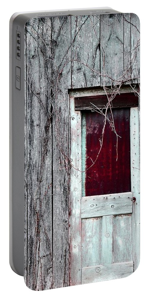 Door Portable Battery Charger featuring the photograph Door To The Past by Deena Stoddard