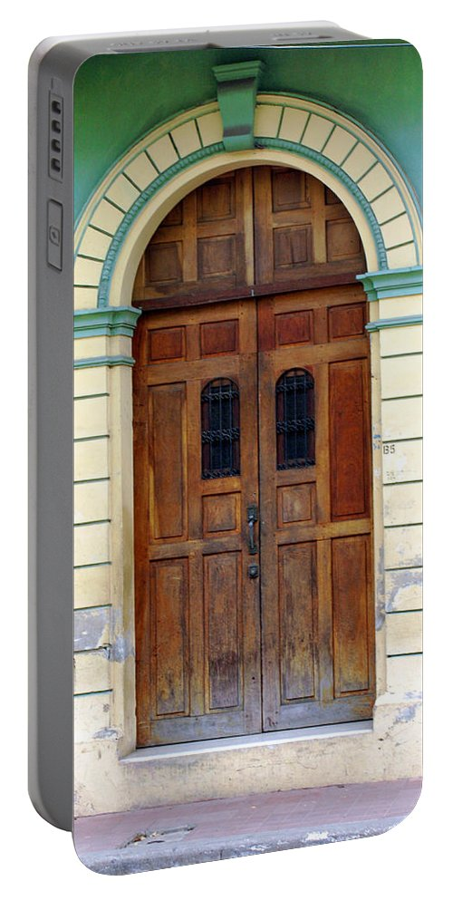Doorway Portable Battery Charger featuring the photograph Doorway Of Nicaragua 001 by David Beebe