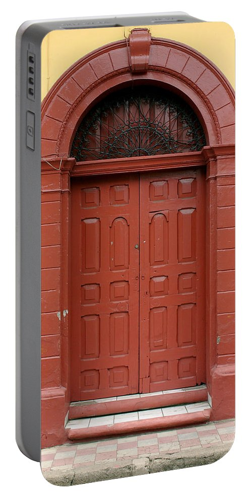 Doorway Portable Battery Charger featuring the photograph Doorway Of Nicaragua 004 by David Beebe