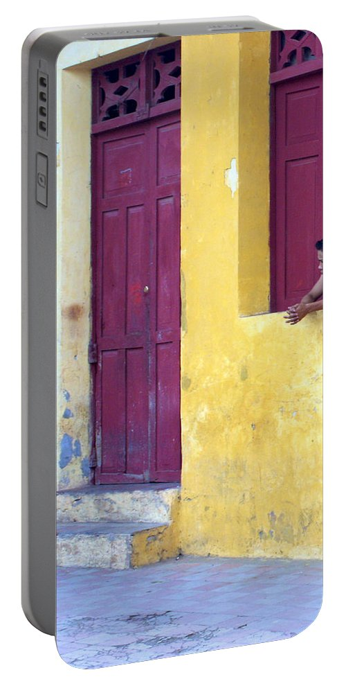 Doorway Portable Battery Charger featuring the photograph Doorway Of Nicaragua 005 by David Beebe