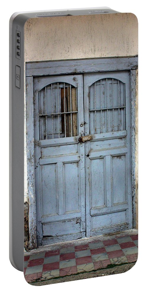 Doorway Portable Battery Charger featuring the photograph Doorway Of Nicaragua 007 by David Beebe