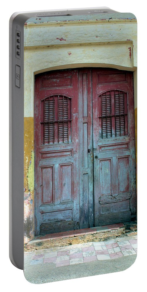 Doorway Portable Battery Charger featuring the photograph Doorway Of Nicaragua 008 by David Beebe