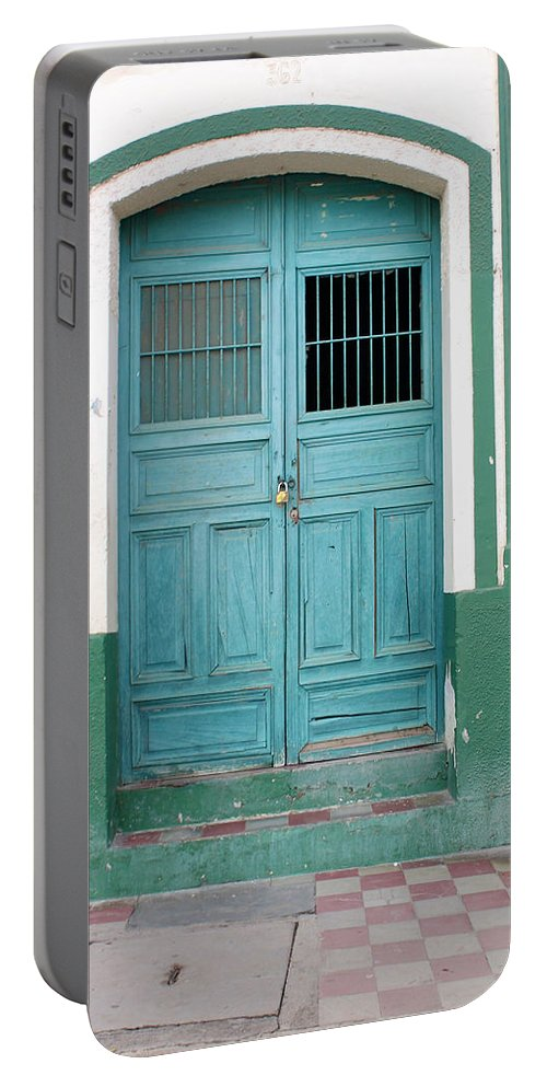 Doorway Portable Battery Charger featuring the photograph Doorway Of Nicaragua 009 by David Beebe
