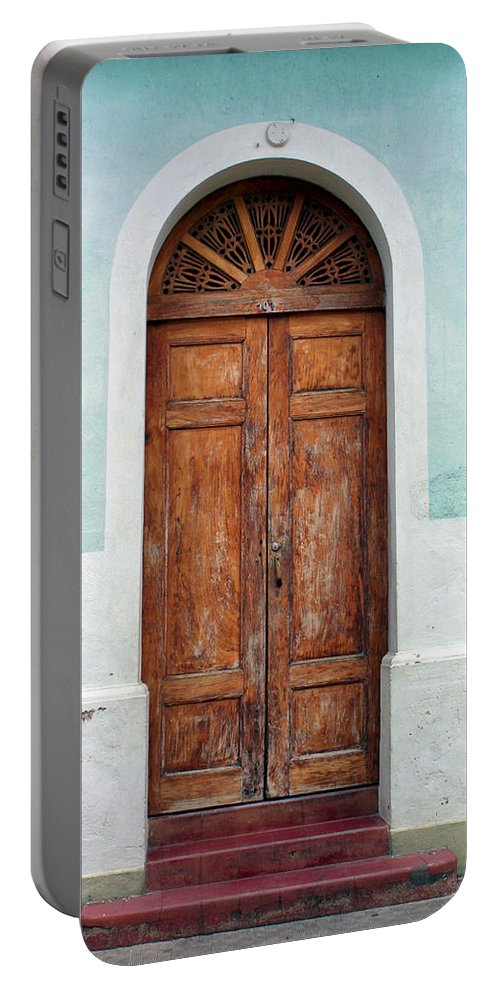 Doorway Portable Battery Charger featuring the photograph Doorway Of Nicaragua 011 by David Beebe