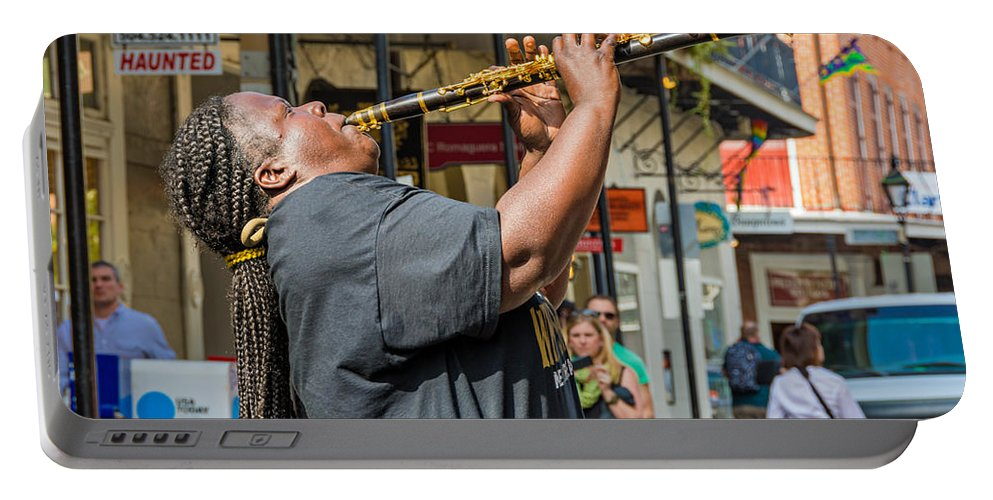 French Quarter Portable Battery Charger featuring the photograph Doreen Ketchens 2 by Steve Harrington