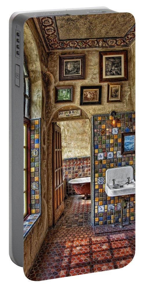 Byzantine Portable Battery Charger featuring the photograph Dormer Bath Room by Susan Candelario