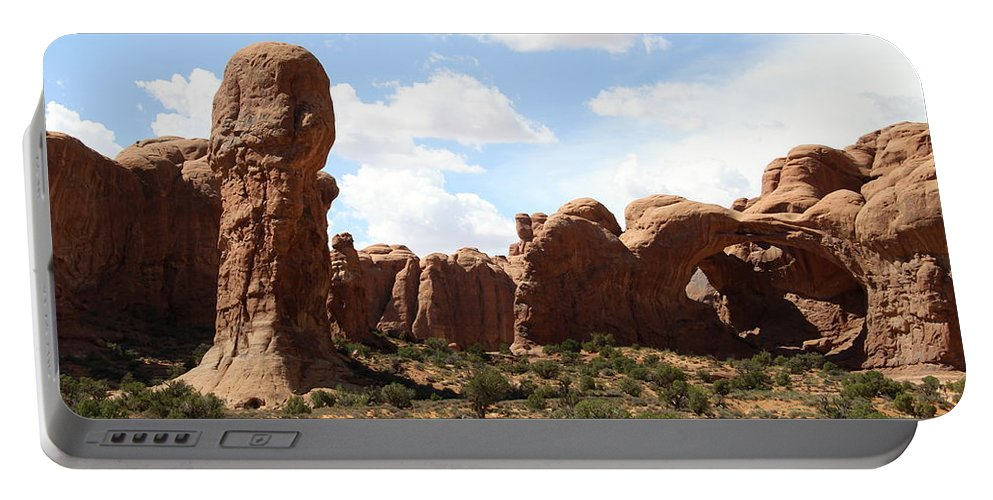 Double Arch Portable Battery Charger featuring the photograph Double Arch In The Windows District by Christiane Schulze Art And Photography