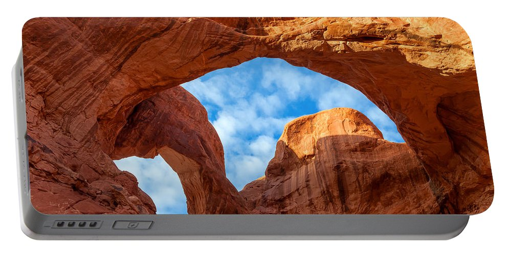 Landscape Portable Battery Charger featuring the photograph Double Arches by Jonathan Nguyen