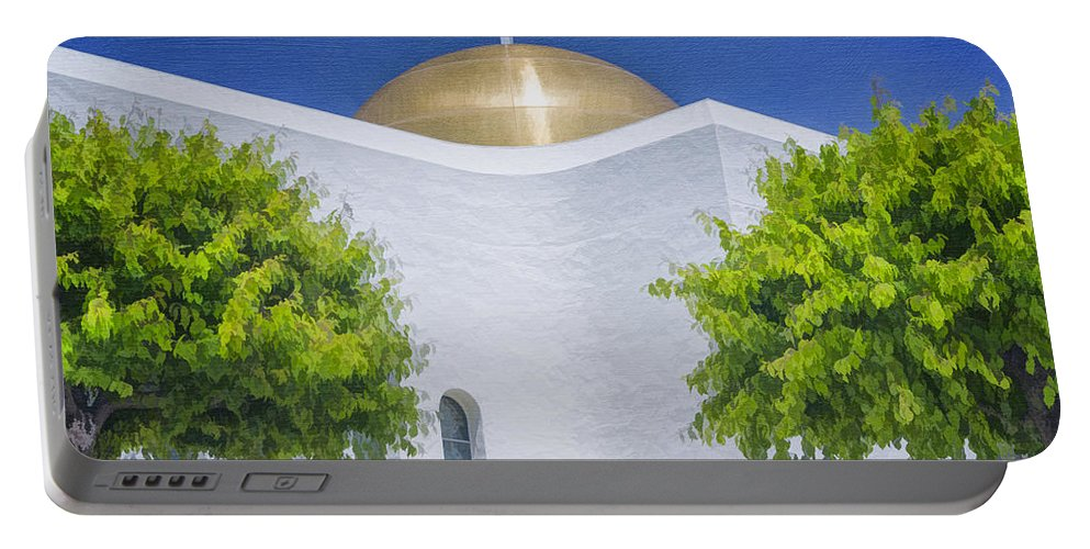 Church Portable Battery Charger featuring the photograph Double Cross by Joan Carroll