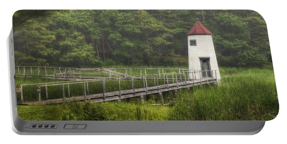 Lighthouse Portable Battery Charger featuring the photograph Doubling Point Range Lights by Joan Carroll