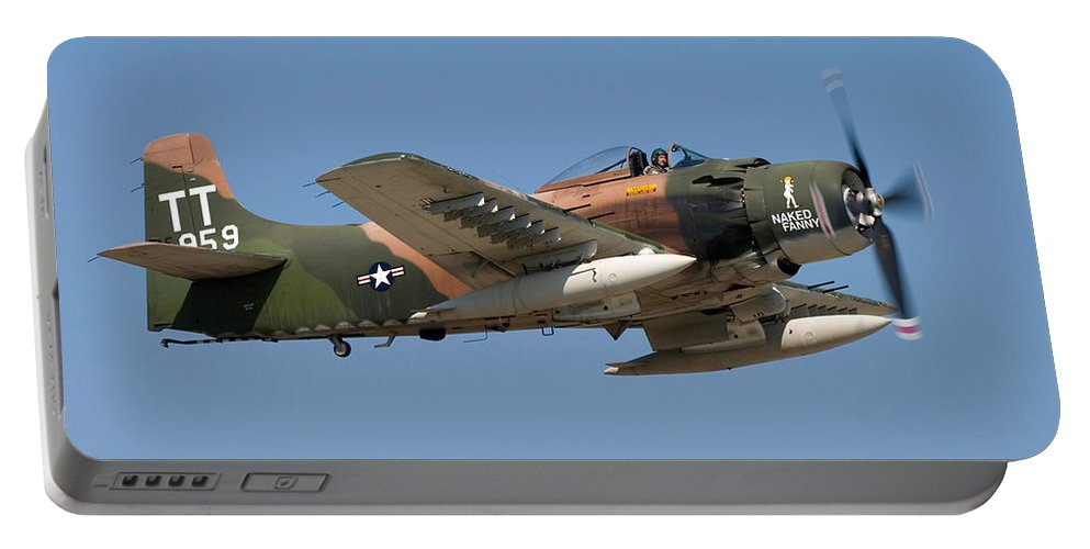 3scape Portable Battery Charger featuring the photograph Douglas Ad-4 Skyraider by Adam Romanowicz