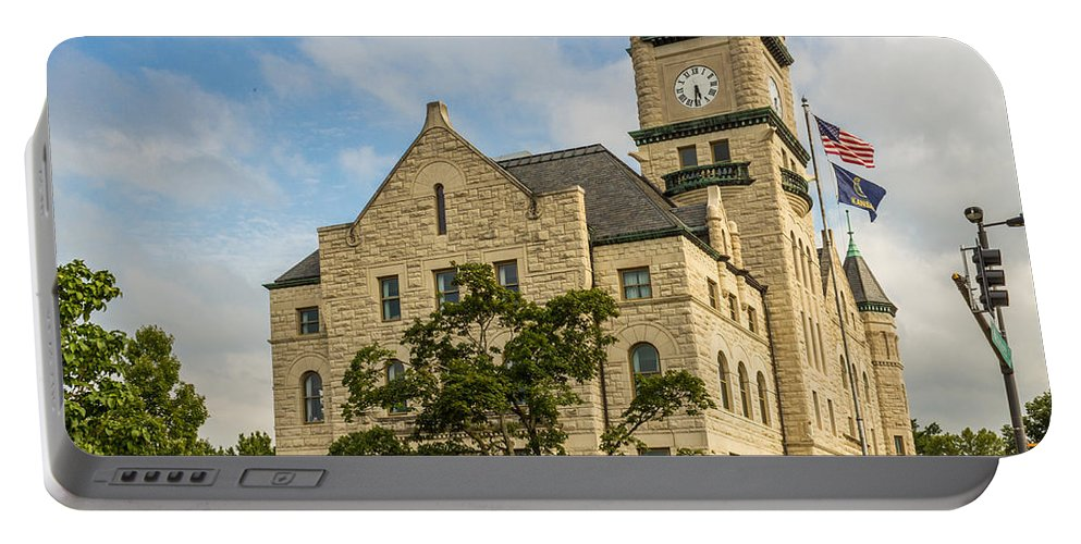 Court Portable Battery Charger featuring the photograph Douglas County Courthouse 2 by Ken Kobe