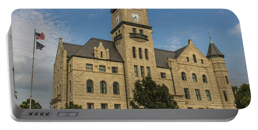 Court Portable Battery Charger featuring the photograph Douglas County Courthouse 4 by Ken Kobe