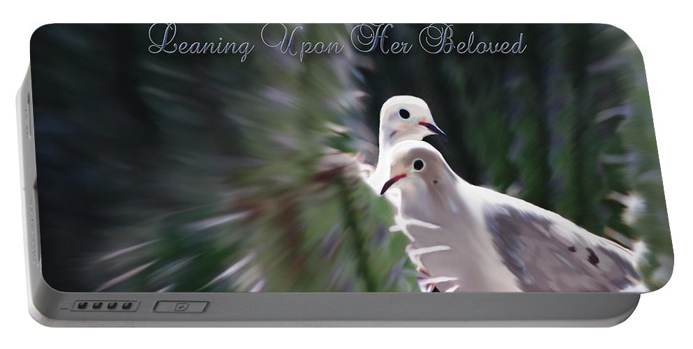 Birds Portable Battery Charger featuring the photograph Love Doves by Constance Woods