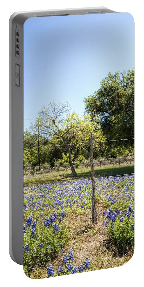 Lupinus Texensis Portable Battery Charger featuring the photograph Down Country Bluebonnets by Kathy Clark