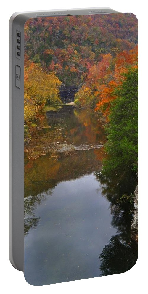 Buffalo River Portable Battery Charger featuring the photograph Down From Ponca by Marty Koch