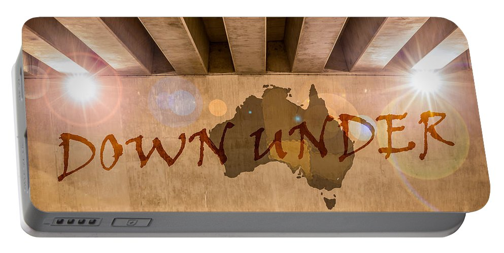 Bridge Portable Battery Charger featuring the photograph Down Under Map by Semmick Photo