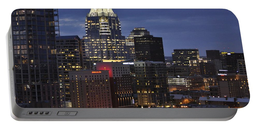 Downtown Austin Portable Battery Charger featuring the photograph Downtown Austin 3 by Kristina Deane