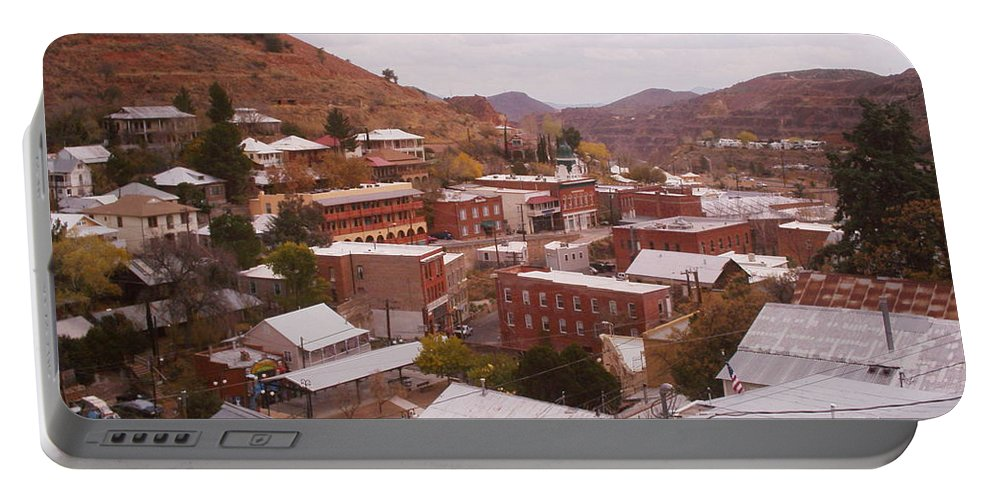 Bisbee Portable Battery Charger featuring the photograph Downtown Bisbee by David S Reynolds