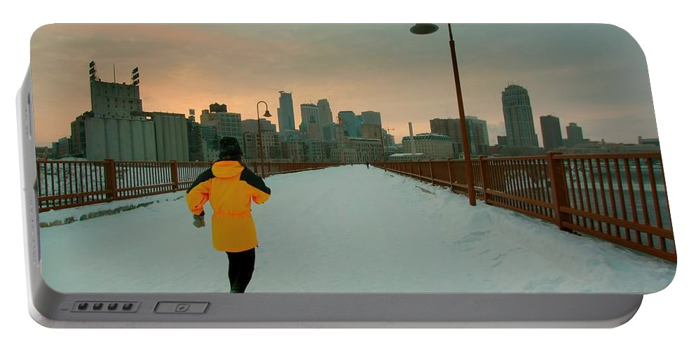 Minneapolis Portable Battery Charger featuring the photograph Downtown Minneapolis by Amanda Stadther