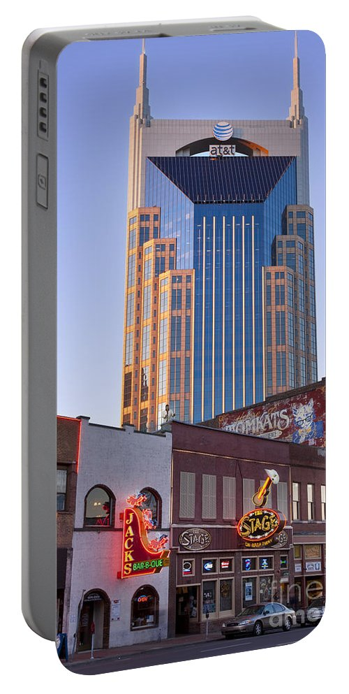 At&t Portable Battery Charger featuring the photograph Downtown Nashville by Brian Jannsen