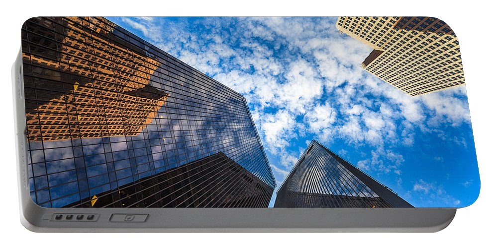 Architecture Portable Battery Charger featuring the photograph Downtown Skyscrapers by Raul Rodriguez