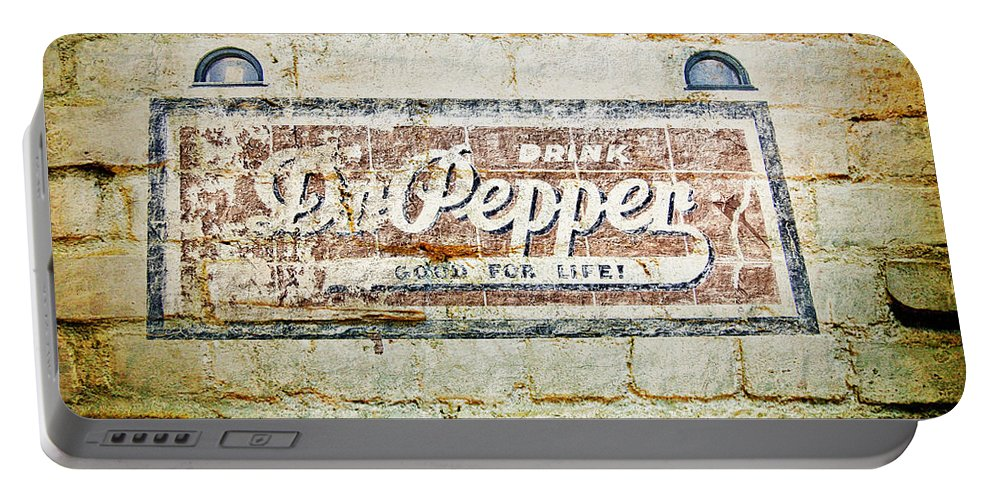 Dr Pepper Portable Battery Charger featuring the photograph Dr Pepper-good For Life by Douglas Barnard
