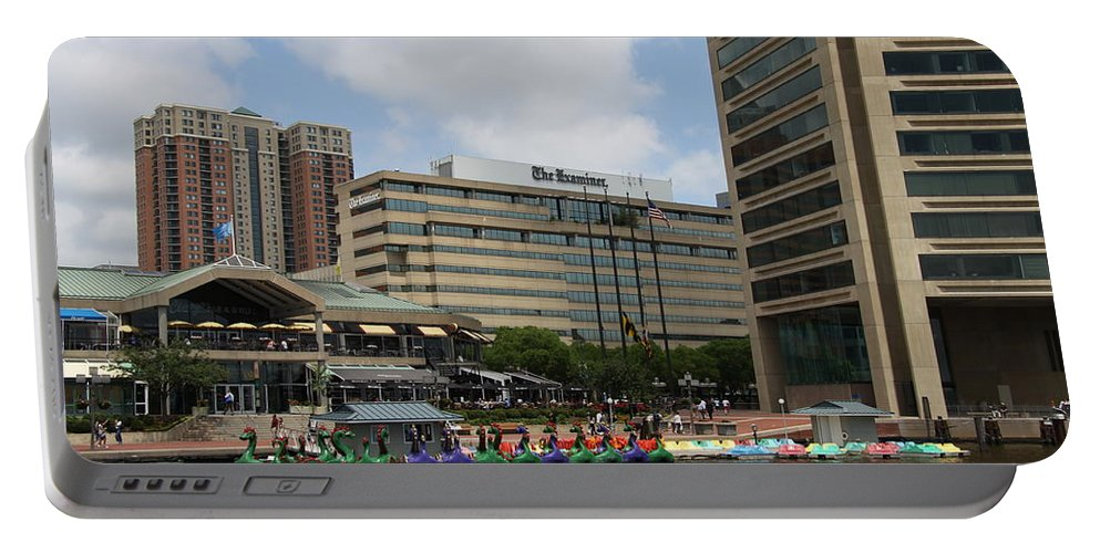Boats Portable Battery Charger featuring the photograph Dragonboats - Inner Harbor Baltimore by Christiane Schulze Art And Photography