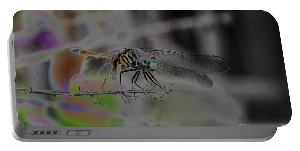 Insect Portable Battery Charger featuring the photograph Dragonfly by Donna Brown