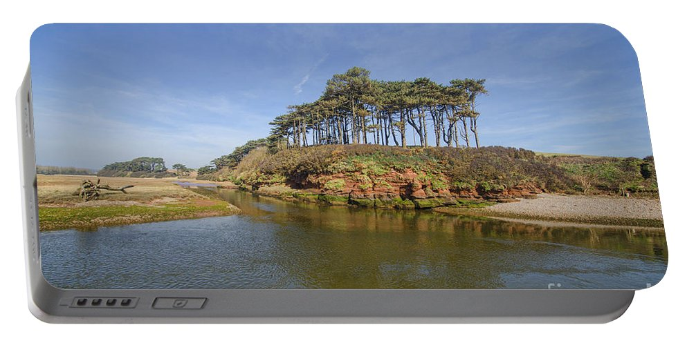 Budleigh Portable Battery Charger featuring the photograph Dragons Back Budleigh Salterton by Chris Thaxter