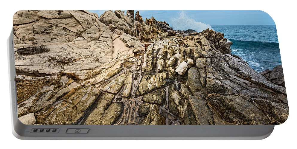 Dragons Teeth Portable Battery Charger featuring the photograph Dragon's Teeth by Jamie Pham