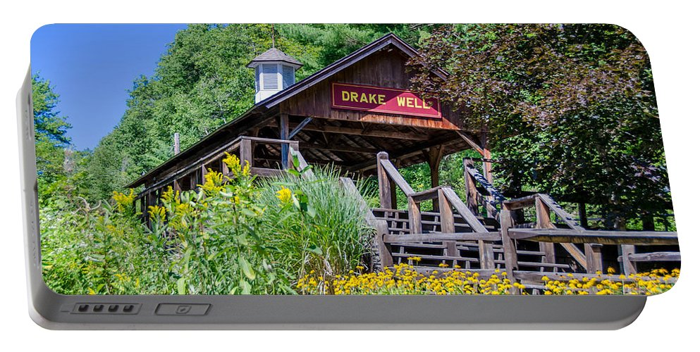 Guy Whiteley Photography Portable Battery Charger featuring the photograph Drake Well Stop 3d21667 by Guy Whiteley