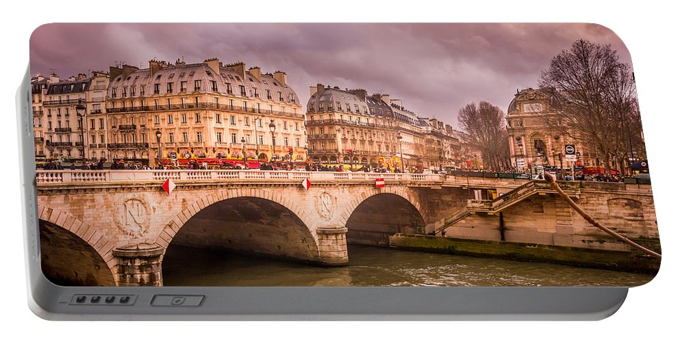 Paris Portable Battery Charger featuring the photograph Dramatic Parisian Sky by Pati Photography